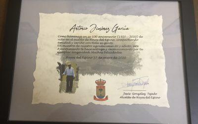 Homenaje a Antonio Jiménez García, 100 años