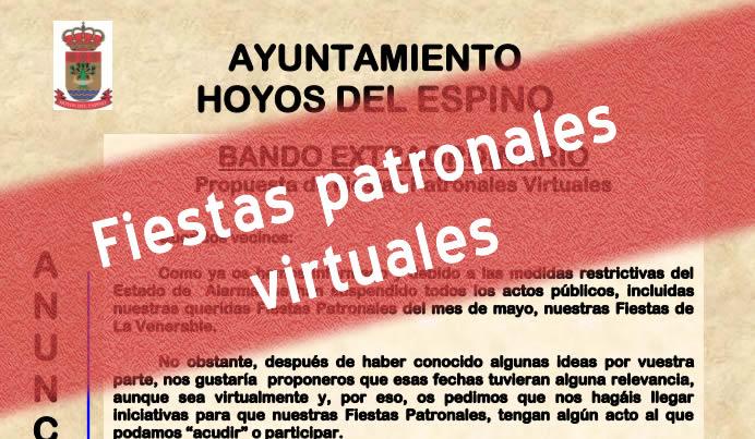 Propuesta de Fiestas Patronales Virtuales