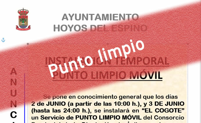 Punto Limpio Móvil 2-3 junio