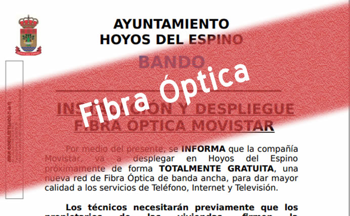 Instalación y despliegue fibra óptica Movistar