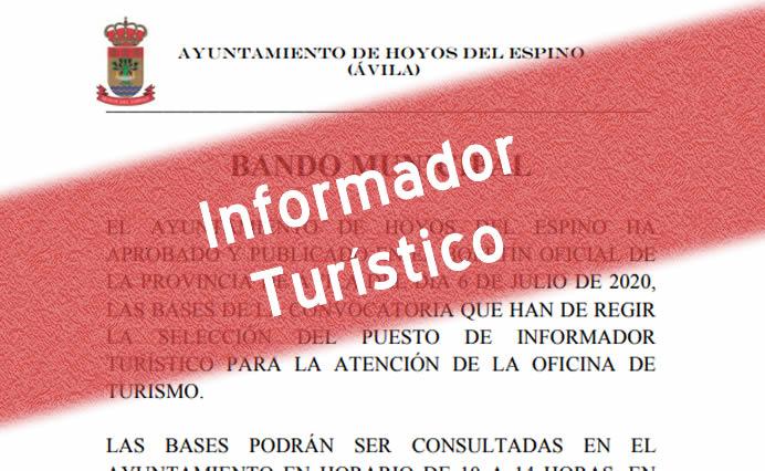Convocatoria Oficina de Turismo