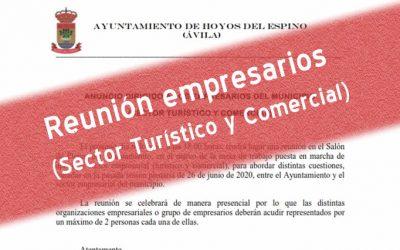 Reunión empresarios del municipio Sector Turístico y Comercial