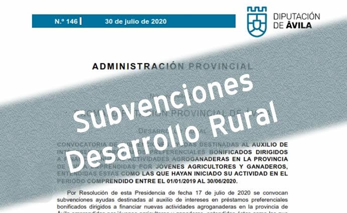 Subvenciones Desarrollo Rural