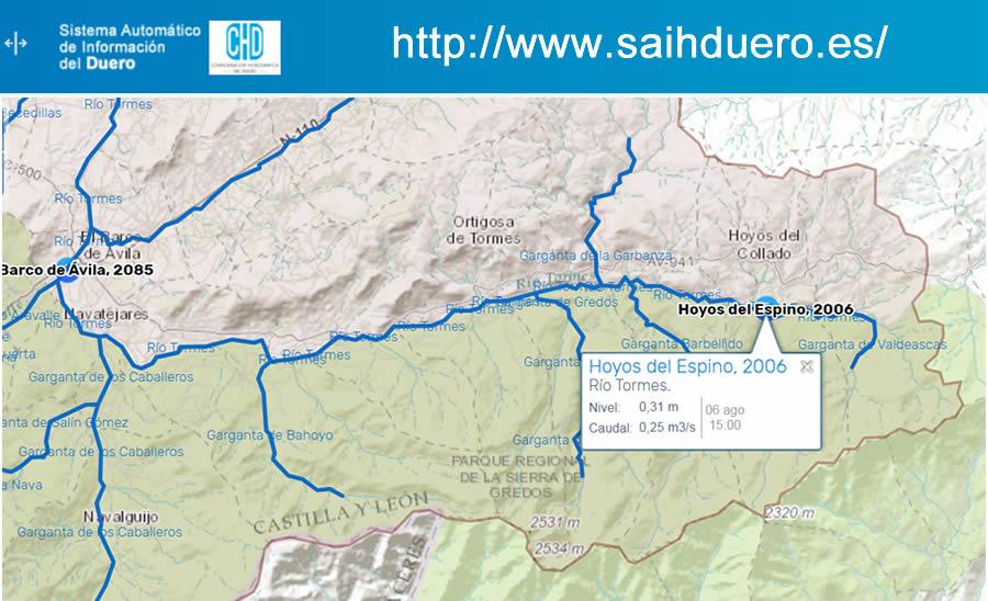 Restricción de usos concesionales en el río Tormes
