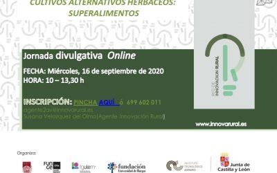 Jornada online: Cultivos Alternativos Herbáceos