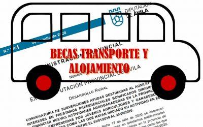 Convocatoria de diez becas de transporte y residencia