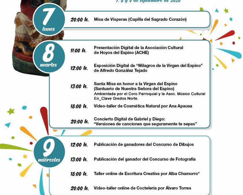 Fiestas Patronales (virtuales) con el programa completo