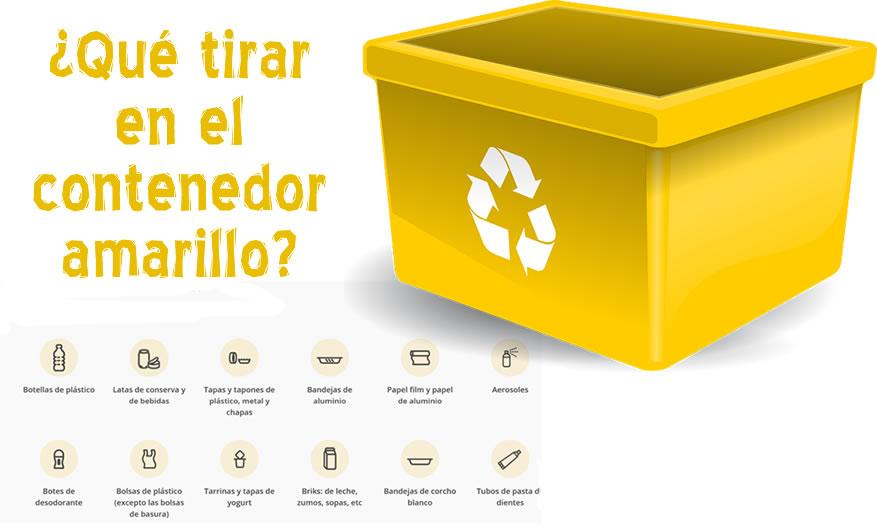 ¿Qué tirar en el contenedor amarillo?