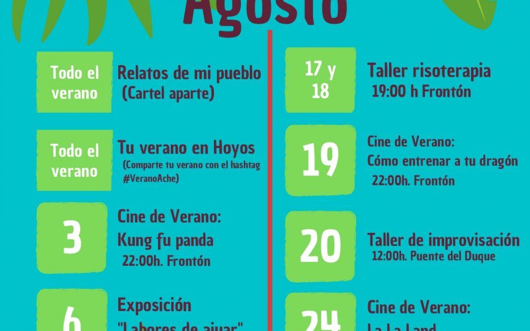 Actividades de ACHE en Agosto